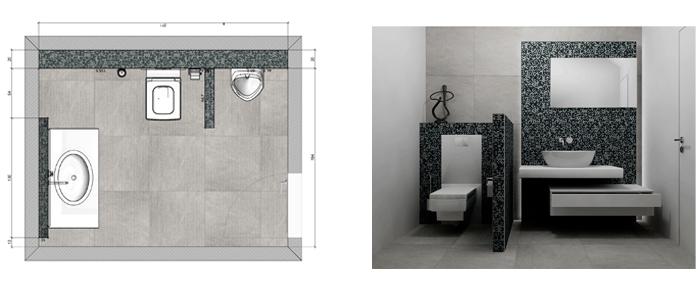 Diseño baño moderno