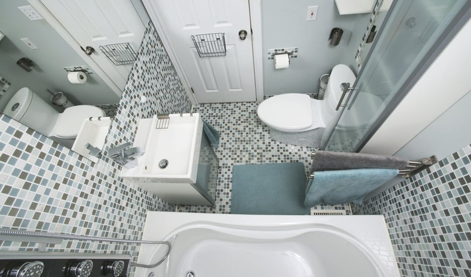 Baño Pequeno Alargado:Ideas para baños modernos pequeños – BañoP2P