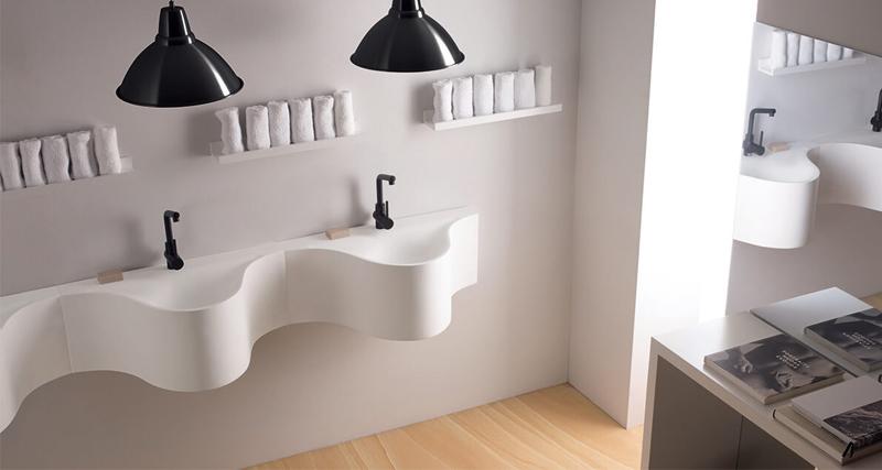 baño moderno lavabos