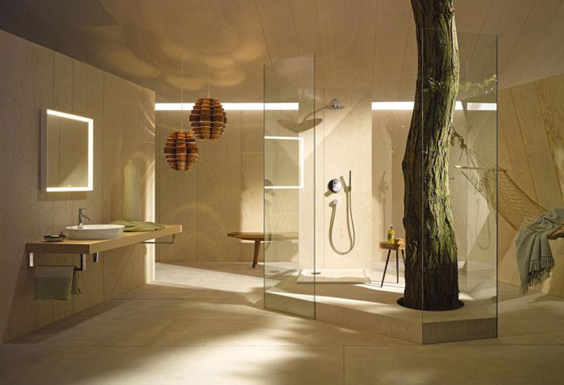 baño moderno naturaleza