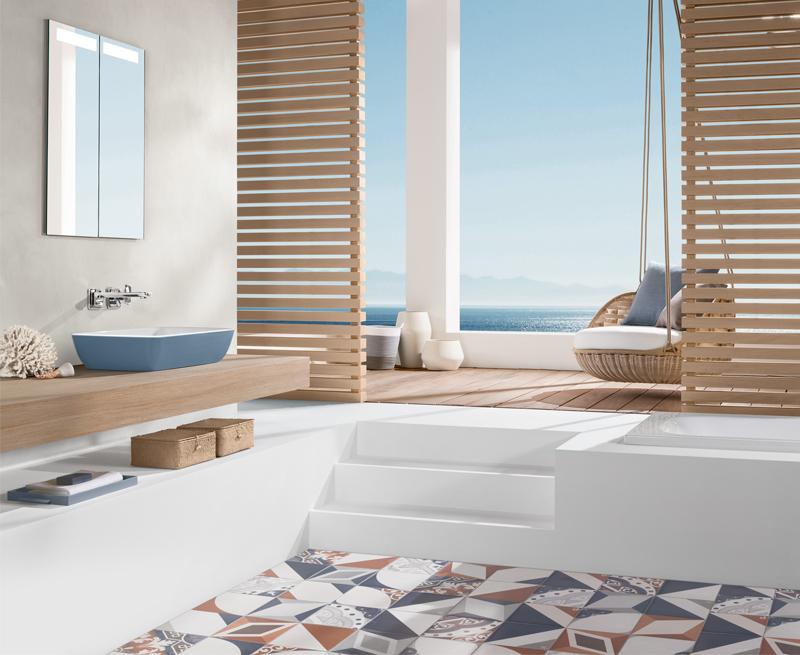 baño moderno playa