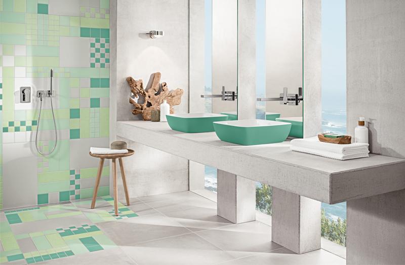 baño moderno ventanas verticales