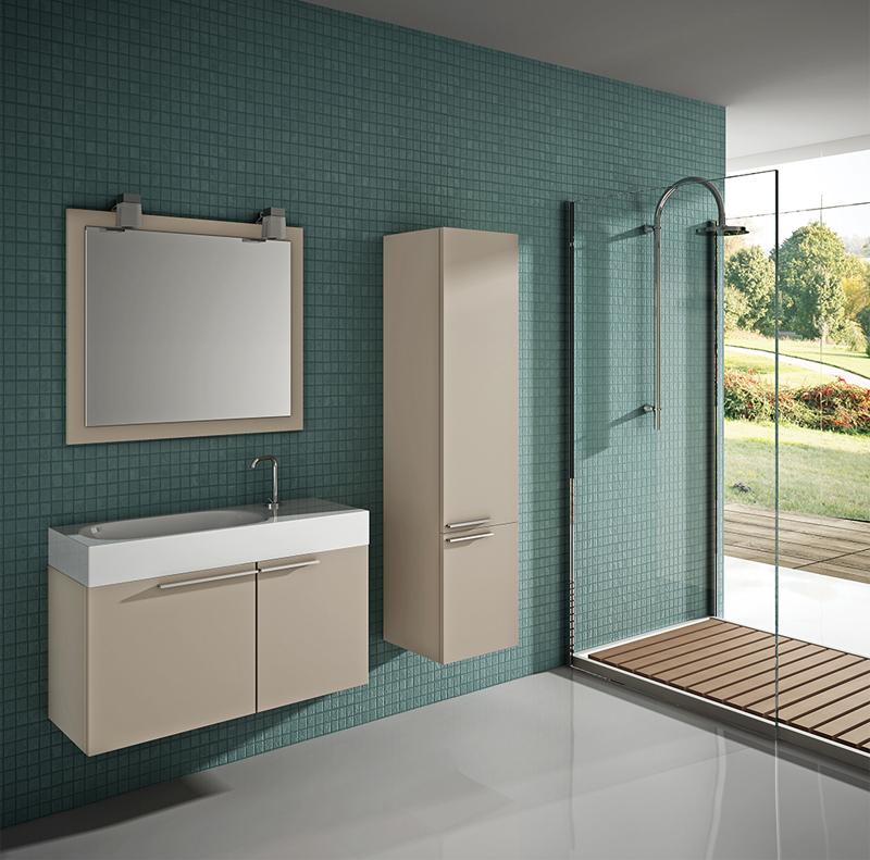 baño moderno verde