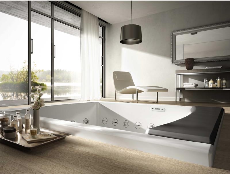 Baños Jacuzzi Modernos:Más de 50 ideas de diseños para baños modernos Grandes – Banium