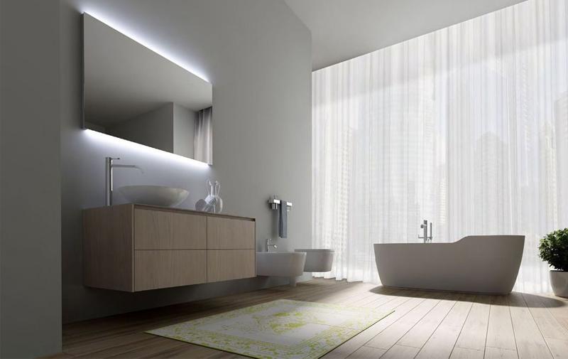 Lamparas Para Baños Modernos:Más de 50 ideas de diseños de baños modernos y pequeños – Banium