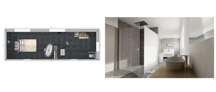Baño Vestidor Diseno:Más de 50 ideas de diseños para baños modernos Grandes – Banium