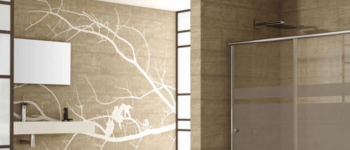 Papel para cuarto de bao best find partes del cuadro de for Espejos decorativos bricor