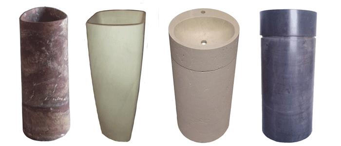 lavabos de piedra modelo kone net ada y basso elaborados en piedra