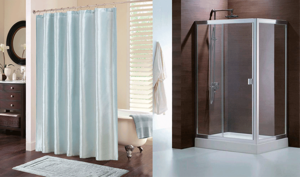 Cortinas o mampara para la ducha banium for Cortinas para bano modernas