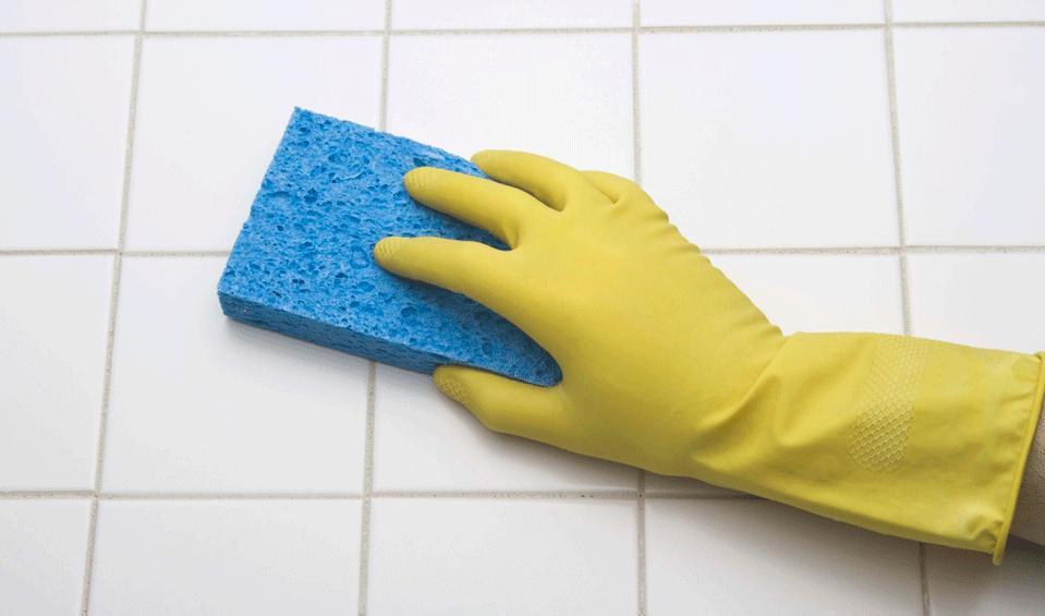 Limpieza en el baño