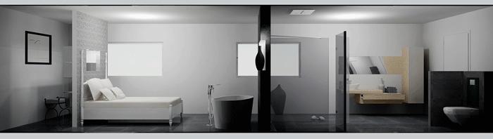 Cuarto de baño integrado dentro del dormitorio