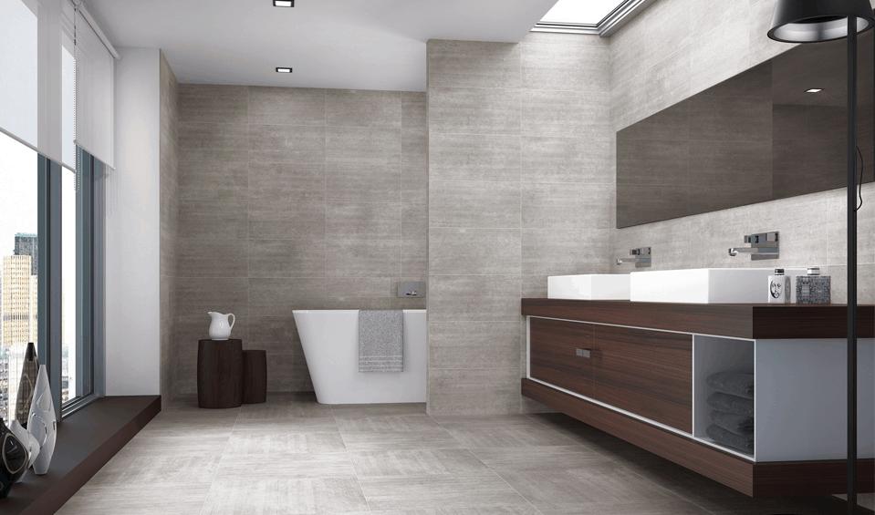Zirconio nos sorprende con sus gamas de azulejos para baño | Banium.com