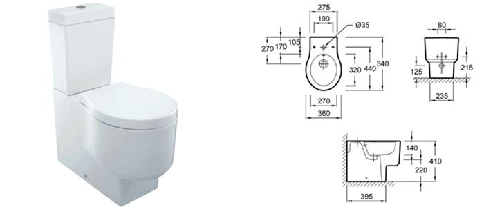 Comparativa de inodoros con mejor relaci n calidad precio - Inodoros pequenos medidas ...