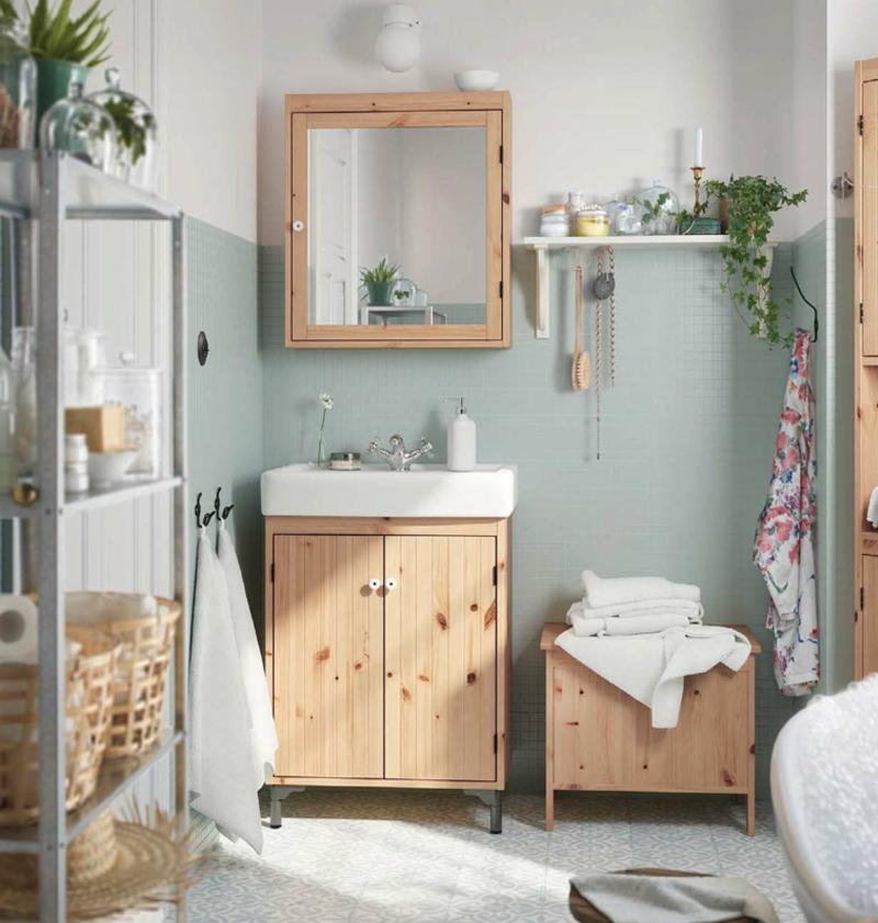 baño moderno de madera