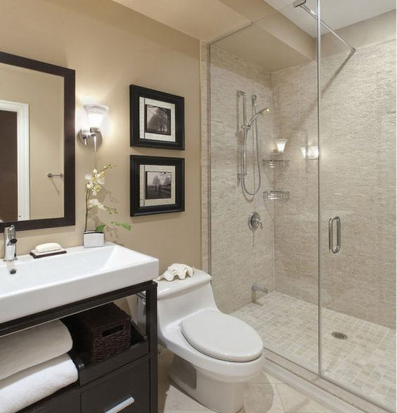 Baño Blanco Para Bizcocho:ideas para la decoración de baños pequeños – BañoP2P
