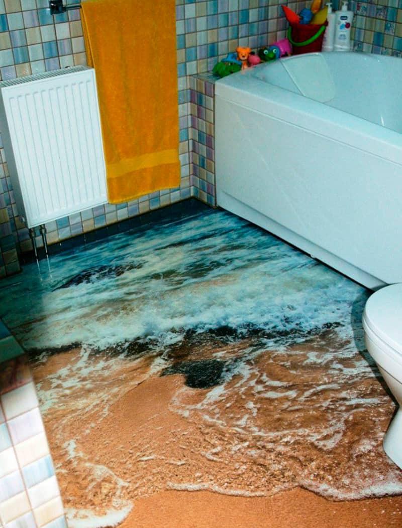 Suelos de cuartos de baño en 3D | Banium.com