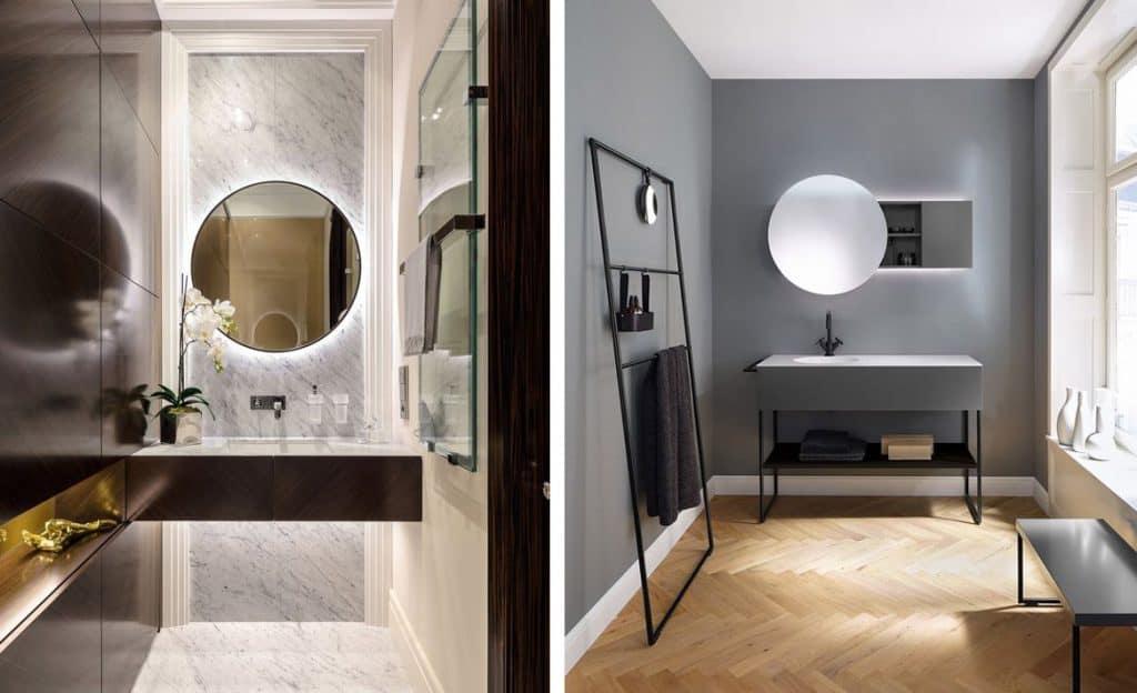 espejos redondos para el cuarto de ba o banium