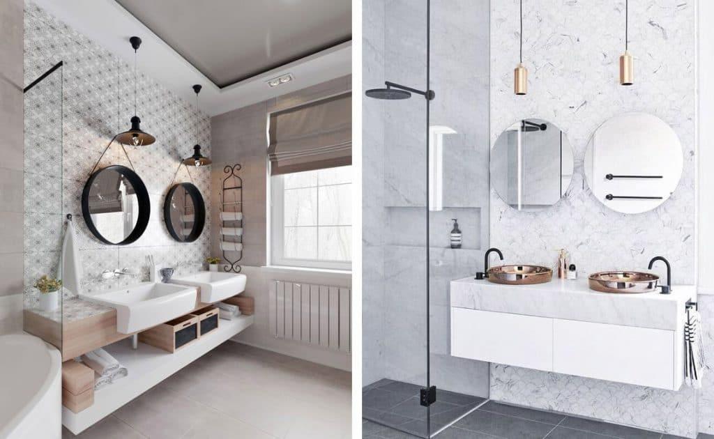 Espejos redondos para el cuarto de ba o banium for Espejos cuarto de bano