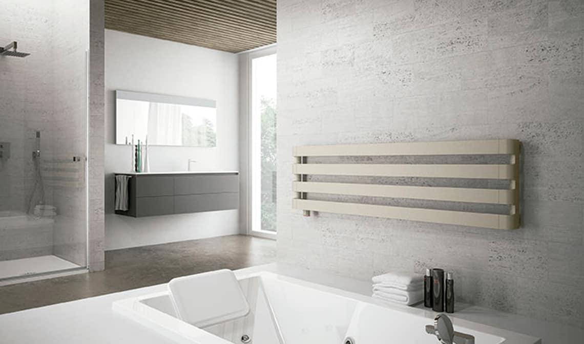 El radiador toallero horizontal de irsap banium for Radiadores toallero
