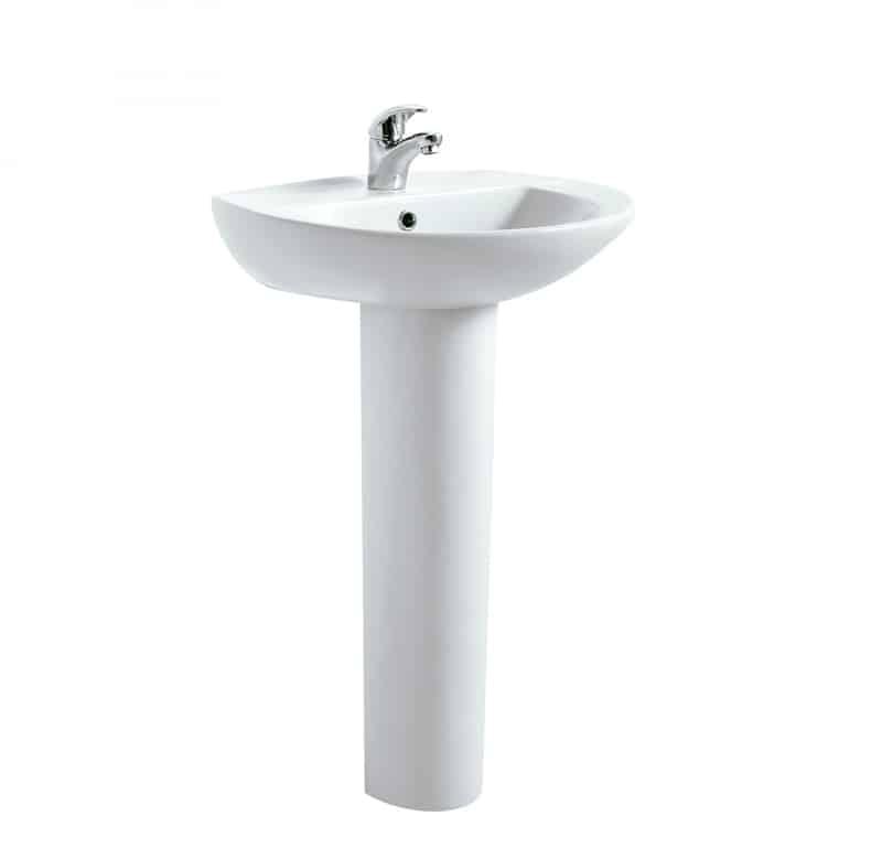 Lavabos con pedestal todas las posibilidades banium for Mueble para lavabo con pedestal
