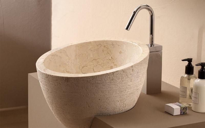 Tipos de lavabos redondos para el ba o banium - Lavamanos sobre encimera ...
