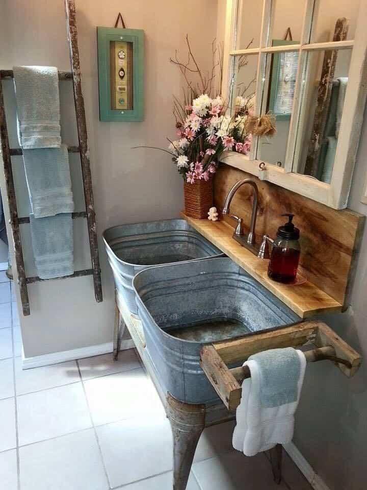 Muebles de baño rústicos - Banium