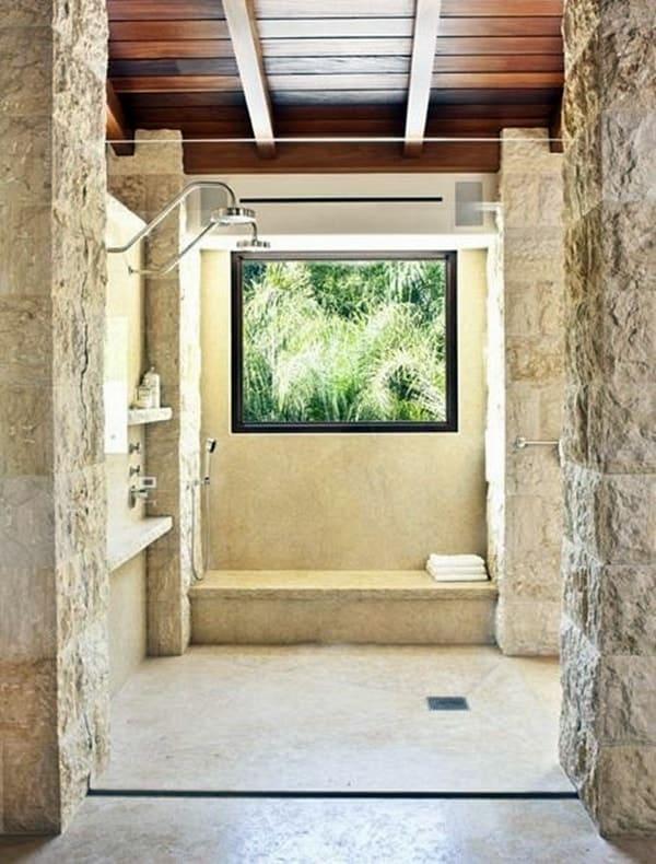 Baños Piedra | Duchas De Piedra Fotos Ideas Y Consejos Banium Com