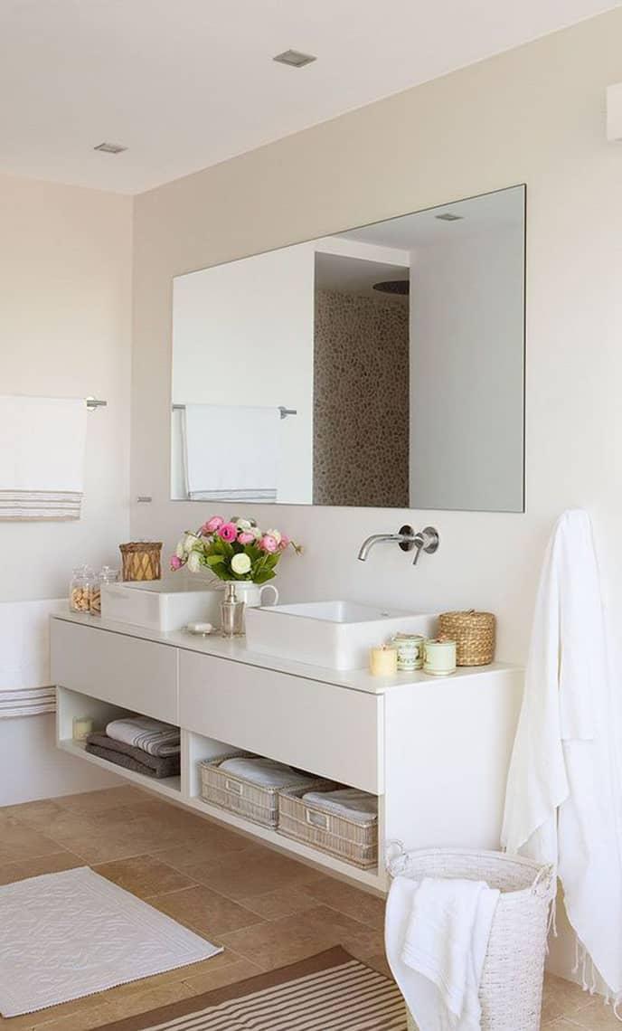Lavabos dobles para el cuarto de ba o banium for Banos 2 lavabos