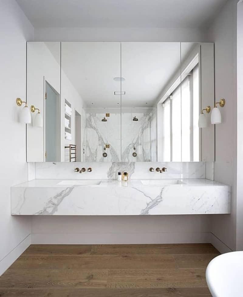 Lavabos dobles para el cuarto de ba o banium - Lavamanos de bano ...