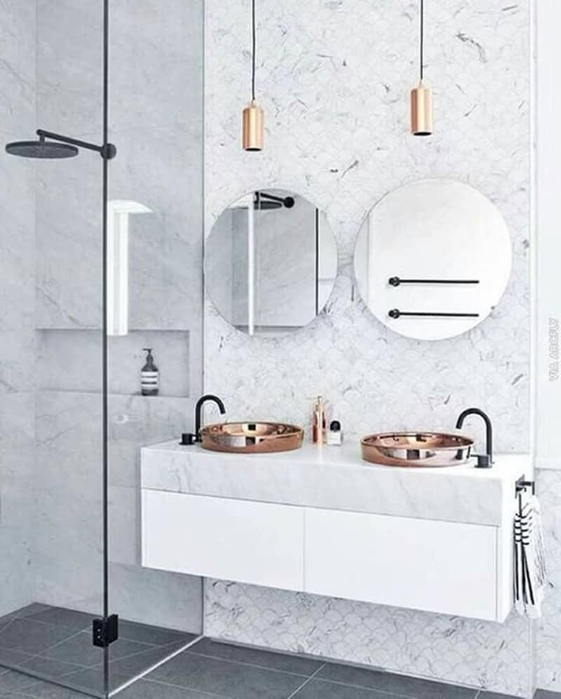 Lavabos dobles para el cuarto de ba o banium - Lavabos dobles sobre encimera ...