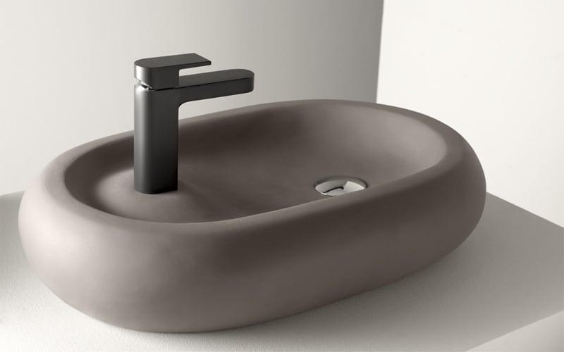 Lavabo moderno lavabo en krion lavamanos modul trtola - Lavabos pequenos roca ...