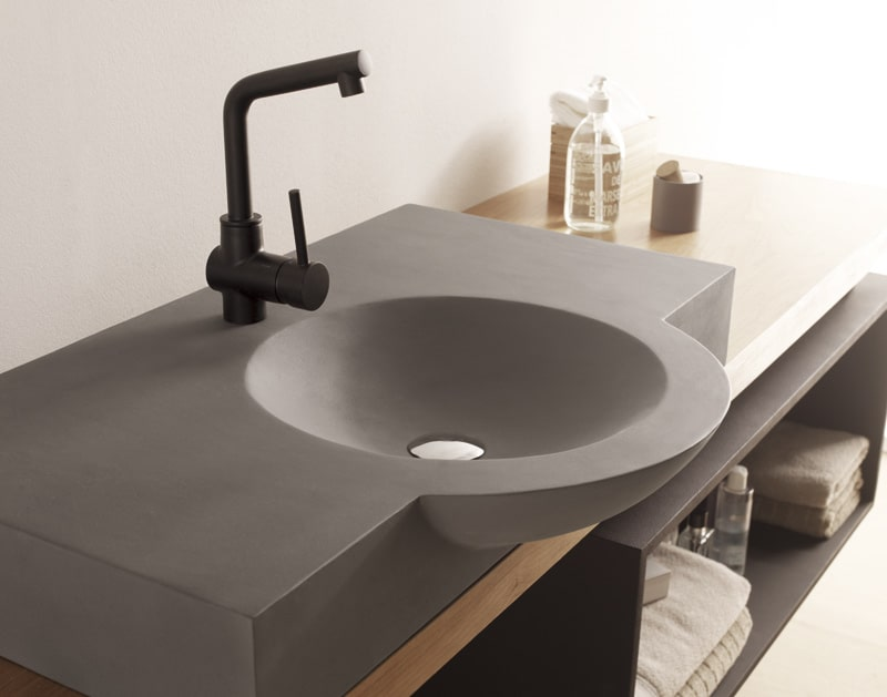 Lavabo sobre encimera doble good lavabo sobre encimera de - Lavamanos sobre encimera ...