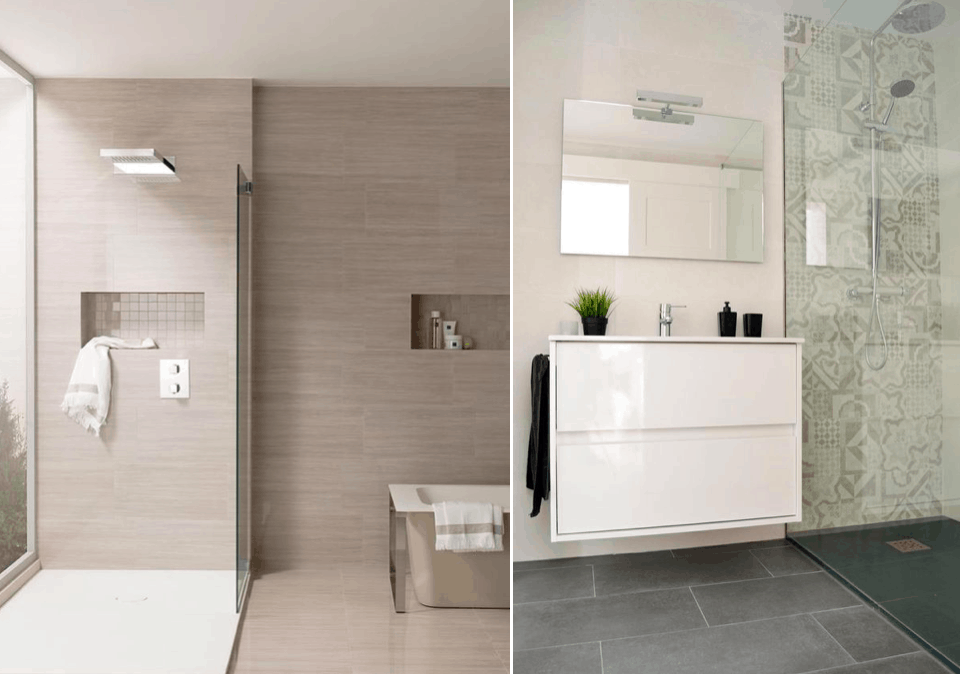 La pizarra un material en boga para los platos de ducha for Duchas minimalistas