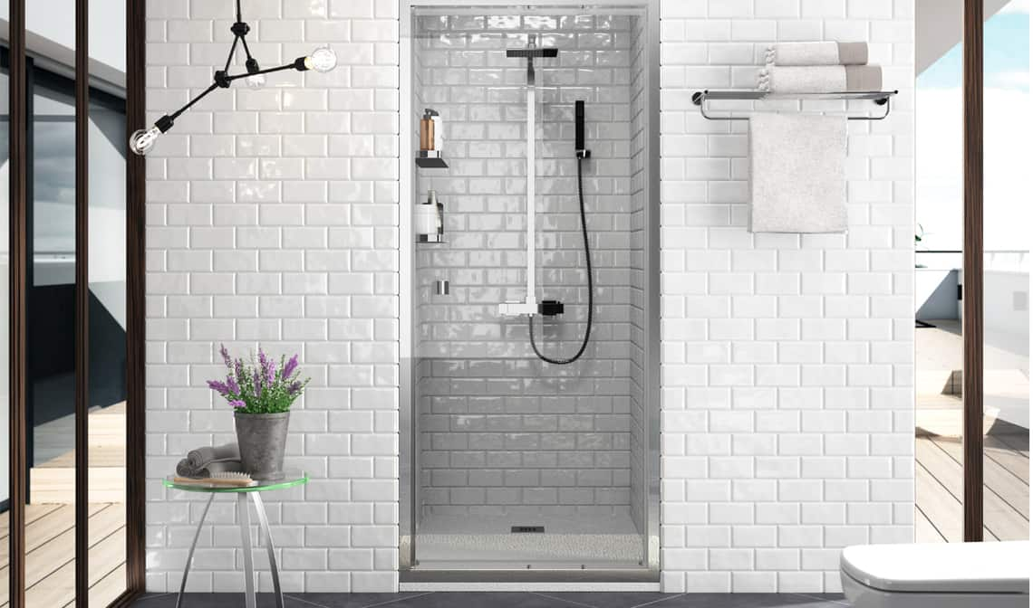 Limpiar mamparas de bao cristal mampara de ducha x x cm for Limpiar mampara ducha cristal templado