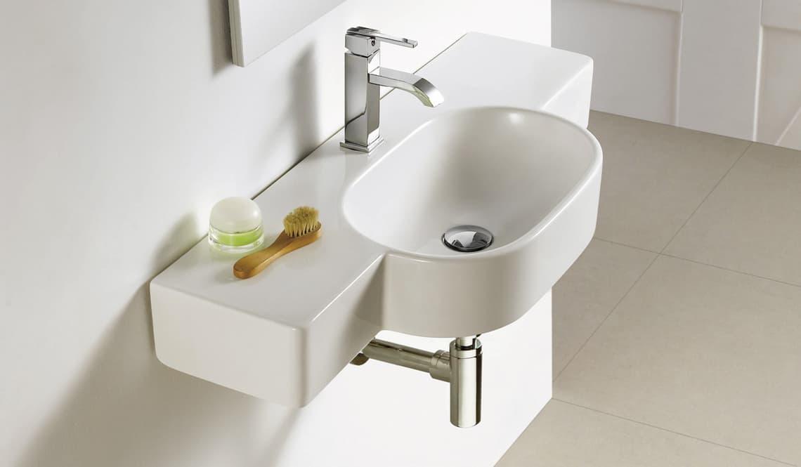 Lavabos suspendidos pequeos mueble uggo lavabos para for Muebles para lavabos suspendidos