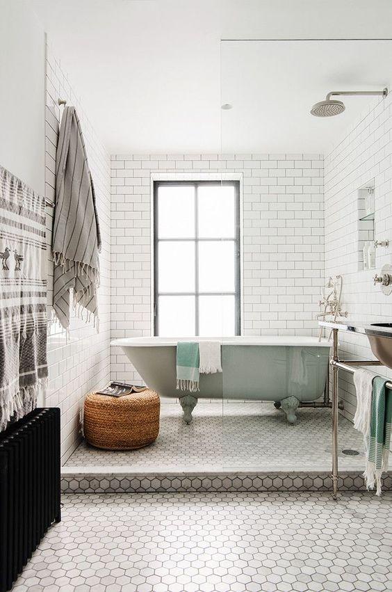 Decoración de baños con azulejo tipo metro | Banium.com