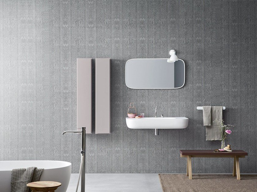 El papel pintado conquista el ba o banium - Papel para paredes con humedad ...