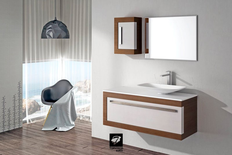 Muebles suspendidos con clase para el cuarto de baño