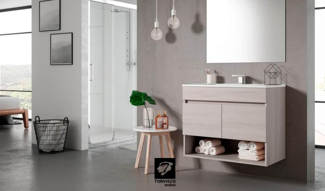 Muebles suspendidos con clase para el cuarto de baño - Banium