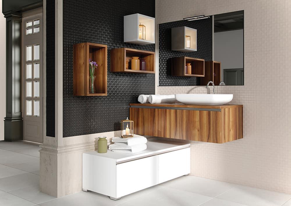 Cuarto de baño clásico con muebles modernos | Banium.com