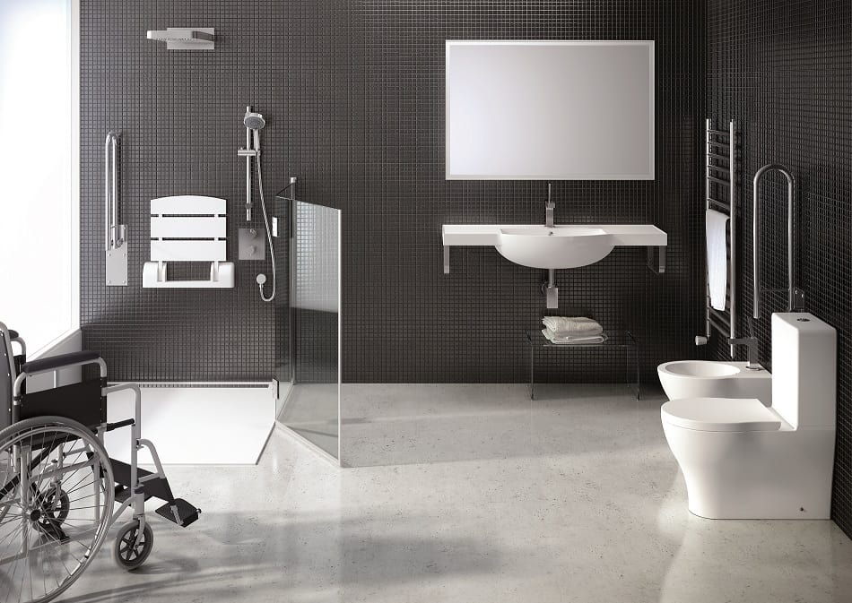 Diseño de cuarto de baño para discapacitados  d47dba8dd3f8