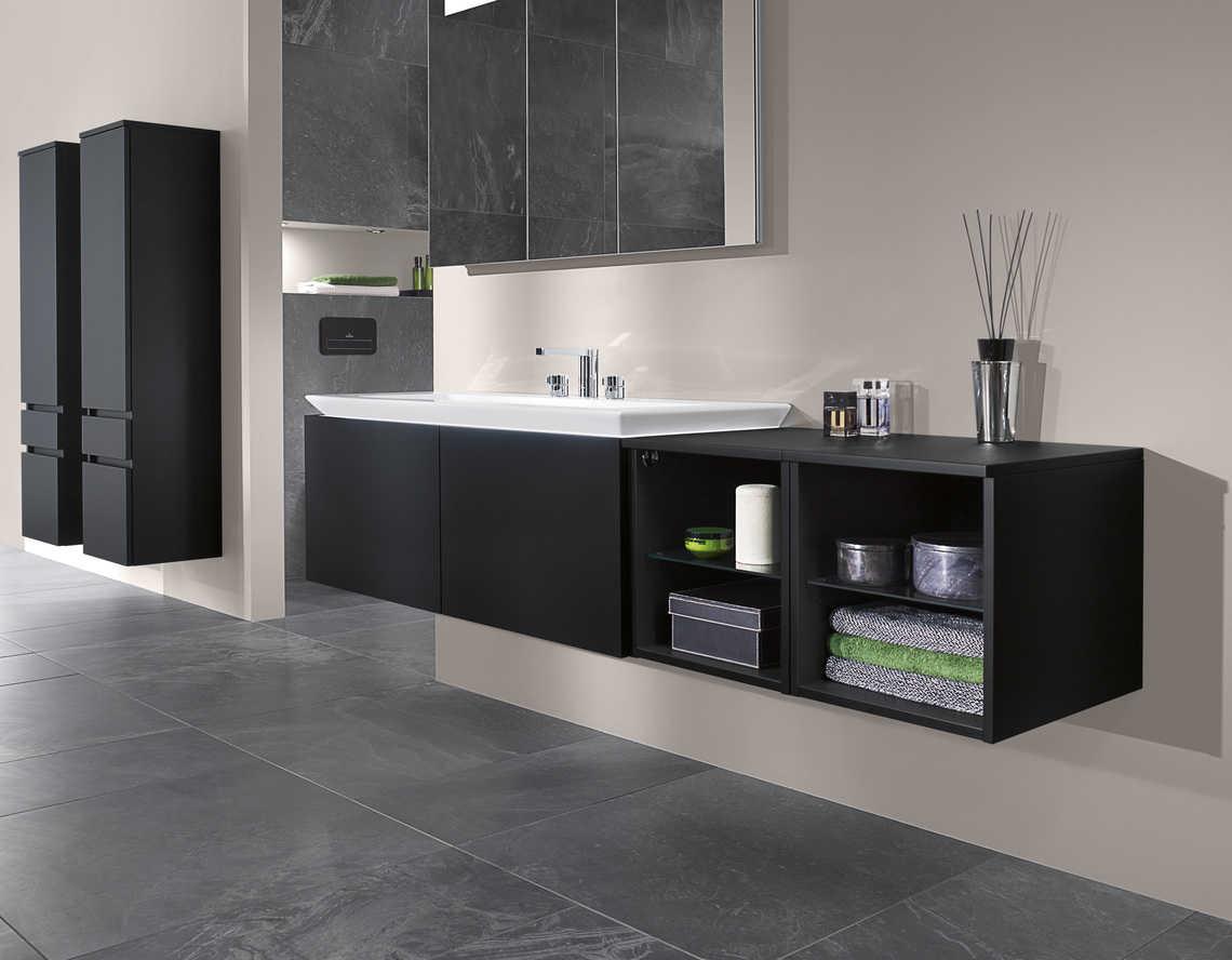 Cuarto de baño en tonos negros | Banium.com