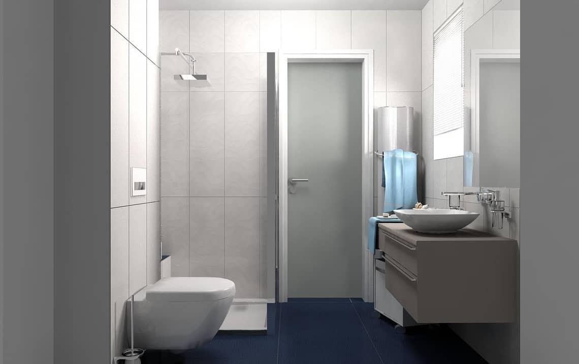 Cuarto de baño pequeño con sanitarios modernos | Banium.com