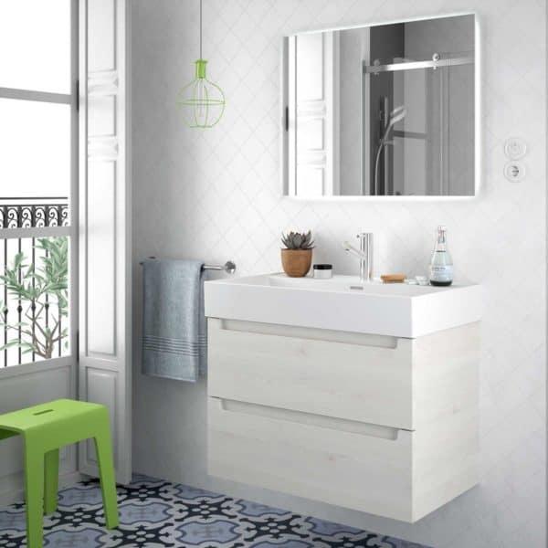 Lavabo porcelana blanca - Veneto - Salgar