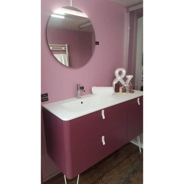 Mueble suspendido o a suelo 2C-1P con lavabo de posar o integral - UNIIQ - Salgar