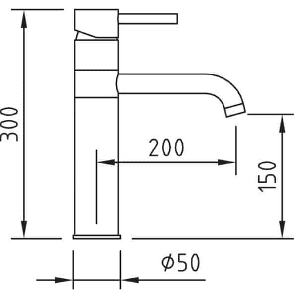 Grifo de cocina caño horizontal - Caiman elegance - Clever