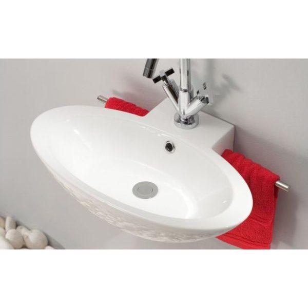 Lavabo suspendido con toallero - Bathco - TT2