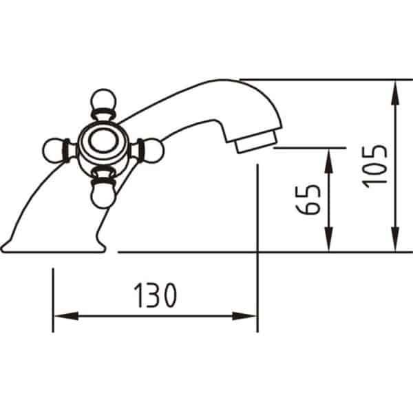 Grifo bimando lavabo 65 with2 antigona - Clever