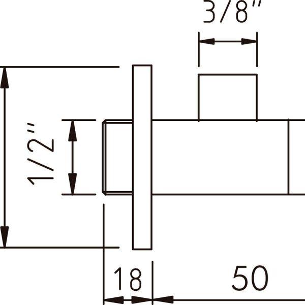 Válvula escuadra - Bimini - Clever
