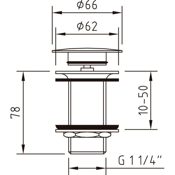 Válvula Pop-up Quick-Clac vela sin rebosadero - Clever